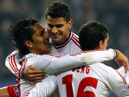 Der HSV stoppt die Negativserie: Guerrero bejubelt seinen Treffer gegen Hoffenheim.
