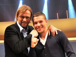 Jürgen Klopp und Lukas Podolski, hier im Mai 2011
