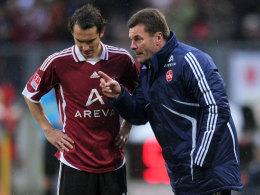 Judt und FCN-Coach Hecking