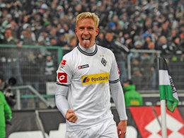 Mike Hanke jubelt gegen Schalke 04