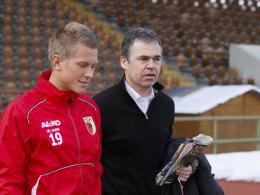 Matthias Ostrzolek und FCA-Manager Andreas Rettig