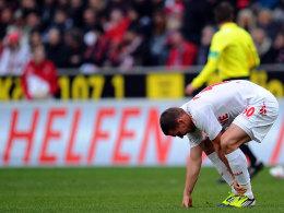 Lukas Podolski beim Kölner Heimspiel gegen Bayer Leverkusen (0:2)