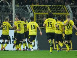 Dortmund bejubelt das 2:1