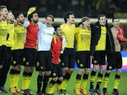 Dortmunder Jubel nach dem 2:1 gegen Mainz
