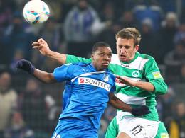 Erster Profieinsatz: Hoffenheims Talent Joseph-Claude Gyau (li.) debütierte im Pokal gegen Greuther Fürth.