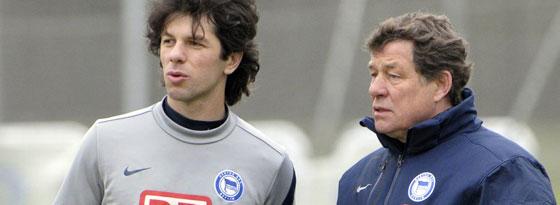 Levan Kobiashvili und Otto Rehhagel