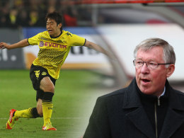 Shinji Kagawa wurde zuletzt von Sir Alex Ferguson (re.) beobachtet