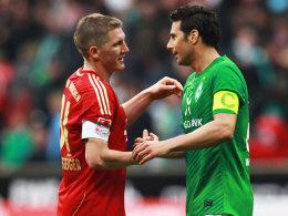 Schweinsteiger und Pizarro (re.)
