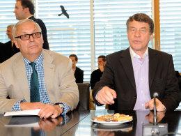 Hertha-Präsident Werner Gegenbauer und Coach Otto Rehhagel