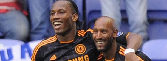 Wiedervereint in Shanghai: Didier Drogba (li.) folgt seinem füheren Chelsea-Mitspieler Nicolas Anelka.