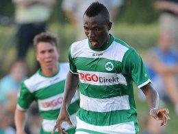 Aufgestaute Energie: Kingsley Onuegbu war gegen Oberkotzau dreimal erfolgreich.