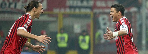 Zlatan Ibrahimovic und Thiago Silva
