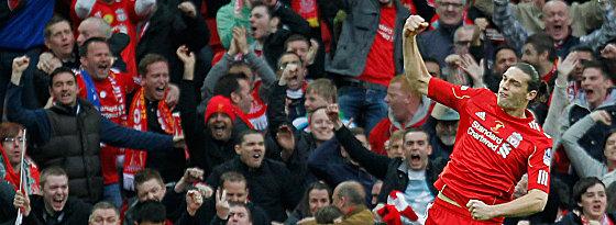 Ansteigende Form, dennoch keine Zukunft in Liverpools Startelf: Andy Carroll.