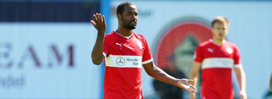 Cacau (VfB Stuttgart) beim 1:1 im Testspiel bei Hansa Rostock