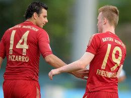 Claudio Pizarro und Kevin Friesenbichler