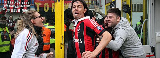 Mit welcher Leidenschaft spielte er in der Serie A Fußball! Filippo Inzaghi, der angeblich in Spanien auf dem Wunschzettel steht.