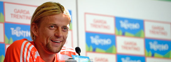 Anatoliy Tymoshchuk am Mittwoch im Bayern-Trainingslager