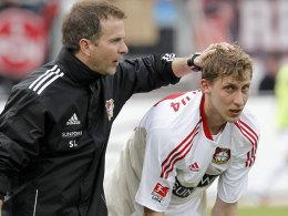 Bayer-Coach Lewandowski und Kießling