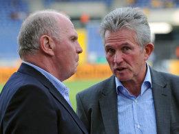 Uli Hoeneß (li.) und FCB-Coach Jupp Heynckes
