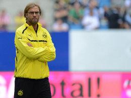 """Jürgen Klopp missfällt das """"Verhalten gegen den Ball""""."""