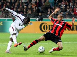 Nicht mehr gegen die Eintracht und gegen Anderson: Kouemaha soll in Zukunft für Frankfurt stürmen.