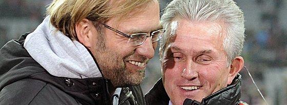 Auch Rivalen können sich gut verstehen: Jürgen Klopp und Jupp Heynckes.