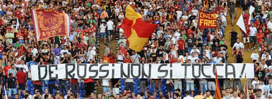 """""""Unantastbar"""": Die Roma-Fans (Bild vom Sonntag) können weiter auf Idol Daniele de Rossi bauen."""