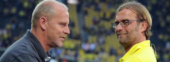 Thomas Schaaf (li.) und Jürgen Klopp