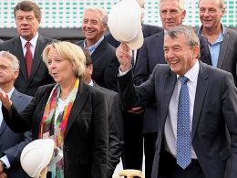 DFB-Präsident Wolfgang Niersbach und Ministerpräsidentin Hannelore Kraft