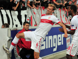 Georg Niedermeier nach seinem Tor zum 2:2 gegen Steaua Bukarest