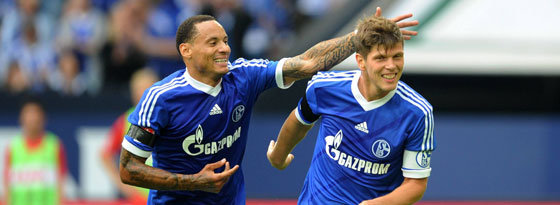 Jermaine Jones (l.) und Klaas Jan Huntelaar