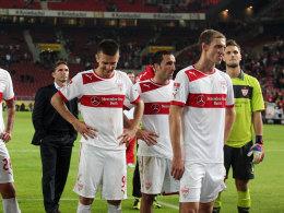 Bruno Labbadia (l.) nach dem 0:3 gegen Hoffenheim