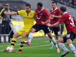 Lewandowski fand einmal die Lücke in Hannovers Defensive.