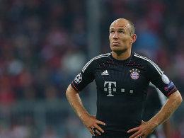 Weiter in der Zuschauerrolle: Bayerns Offensivspieler Arjen Robben.