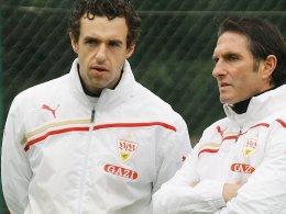 Michael Gentner (li.) und Bruno Labbadia