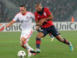 Nur 45 Minuten: Franck Ribery im Duell mit Dijbril Sidibe beim 1:0 in Lille.