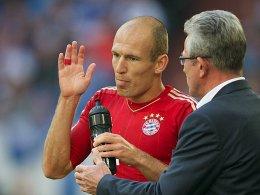 Alles klar: Jupp Heynckes kann wieder auf Arjen Robben bauen.