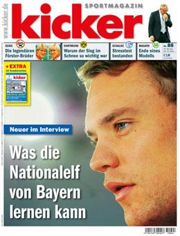 Aktulle Ausgabe des kicker sportmagazin vom 29.10.2012