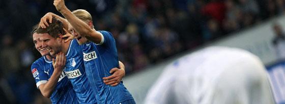 Am Ende jubelte Hoffenheim: Joker Schipplock (Mitte) machte das 3:2 für die TSG gegen Schalke.