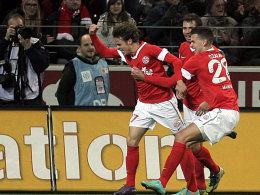 Hellwach: Der Mainzer Nicolai Müller erzielte das frühe 1:0.
