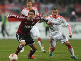 Feulners Flatterball saß zum 1:1 gegen die Bayern. Ausgerechnet der Ex-Münchner im FCN-Dress sorgte für den einen Zähler.