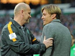 Thomas Schaaf mit Clemens Fritz