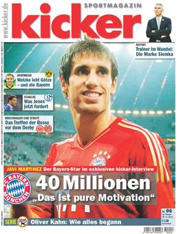 Aktuelle Ausgabe des kicker sportmagazins vom 26.11.2012