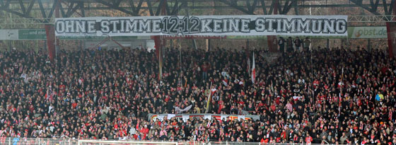 Banner bei Union Berlin