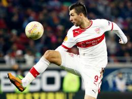 Klappt's in Augsburg mit Treffer Nummer sieben? Stuttgarts Hoffnungsträger Vedad Ibisevic.