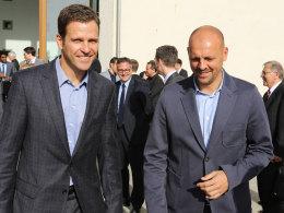 Marc Kosicke (41, rechts), Geschäftspartner von Oliver Bierhoff, ist Favorit bei Werder Bremen.