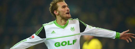Wolfsburgs Dost besorgte den Siegtreffer für den VfL in Dortmund.