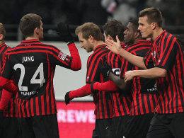 Die Eintracht ist wieder in der Spur: Die Hessen jubelten über ein 3:1 gegen Werder Bremen.