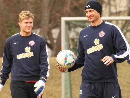 Karius (li.) und Müller