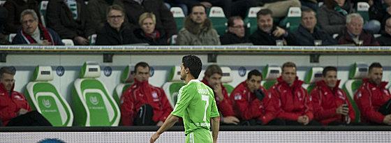 Josué nach seiner Roten Karte gegen Frankfurt.